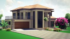 House Plans Mansion, My House Plans, Bungalow House Plans, Family House Plans, Modern House Plans, Two Story House Design, Classic House Design, Unique House Design, Double Storey House Plans