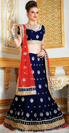 Buy Gorgeous Multicoloured Velvet Lehenga Choli For Navratri Festival
