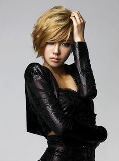 Short hair on Korean Pop girl in