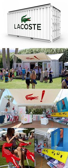 Lacoste L!VE Pop-Up container by aruliden Marketing Trends, Street Marketing, Guerilla Marketing, Mobile Marketing, Container Buildings, Container Architecture, Container Shop, Container Design, Container Conversions