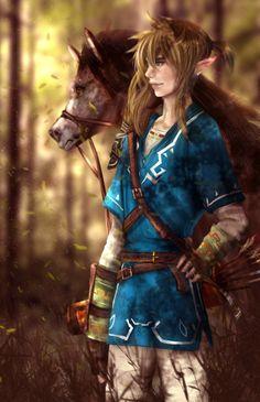 Link and Epona For Zelda U