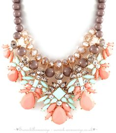 ♥Statement Necklace ~ Exclusive Collection♥ >>Stunning #Statement #Necklace #StatementNecklace #Trend #Fashion #PastelColour Can purchase from our webpage http://sumick-accessorize.co.uk/ (© SuMick Accessorize UK Ltd)