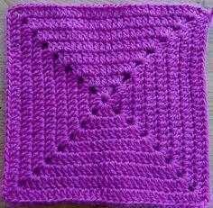 Crochet Blocks, Granny Square Crochet Pattern, Crochet Squares, Crochet Granny, Crochet Stitches, Crochet Patterns, Granny Squares, Chunky Crochet, Diy Crochet
