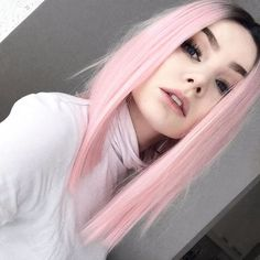 Beautiful pastel pink wig hair. Credits to @magicalien