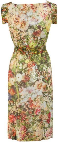 Vivienne Westwood dress. Love this: Multicolour Floral Print Jersey Dress @Lyst
