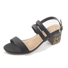 6236665e537c A2 By Aerosoles Women s Mid Size Heel Sandal Black Black Sandals