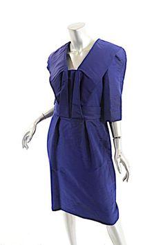 Oscar de la Renta Violet Dress