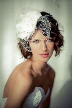bridal portraits — sonia roselli photo  headpiece by www.laurahubka.com