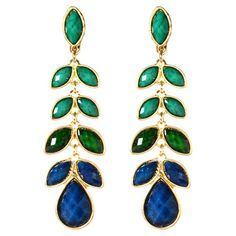 These lovely leaf-inspired earrings showcase faceted faux stones in an ombre-style hue, offering natural style with a touch of glamour.    ...