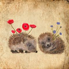 Art card Hedgehog s story VALENTINE ' s DAY by AnneSolfud on Etsy, $7.00