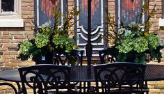 Manor House Style Patio Garden Adamsleigh Showhouse | The Decorating Diva, LLC