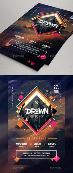 DJ Flyer Template PSD. Download here: http://graphicriver.net/item/dj-flyer-template/16776066?ref=ksioks