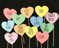 A personal favorite from my Etsy shop https://www.etsy.com/listing/503517591/valentines-day-themed-photo-booth-props