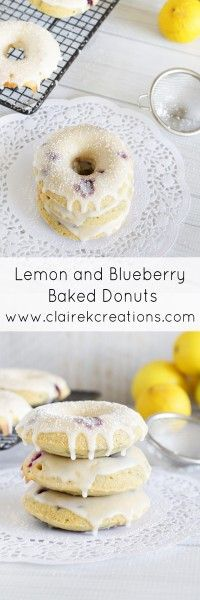 Lemon and blueberry