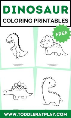 Fun free printables of dinosuars. Use anything you want to bring colors to these adorable dinosaurs!  #dinosaurprintables #preschoolprintables #printables #coloringprintables Dinosaur Printables, Preschool Printables, Preschool Activities, Free Printables, Activities For 2 Year Olds, Indoor Activities For Kids, Toddler Activities, Dinosaur Coloring, Toddler Preschool