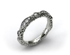 This platinum pave cascading wedding band is available with free shipping and 60-day returns exclusively at JamesAllen.com - OMG this is so gorgeous!