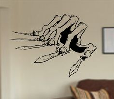 Check out this item in my Etsy shop https://www.etsy.com/listing/197055053/zombie-hand-clawing-wall-decal-sticker