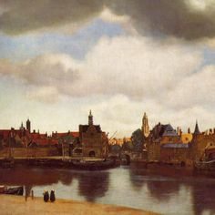 Johannes Vermeer View Of Delft art painting for sale; Shop your favorite Johannes Vermeer View Of Delft painting on canvas or frame at discount price. Johannes Vermeer, Rembrandt, Vermeer Delft, Vermeer Paintings, Vermeer Artwork, Oil Paintings, Painting Art, La Haye, Art History