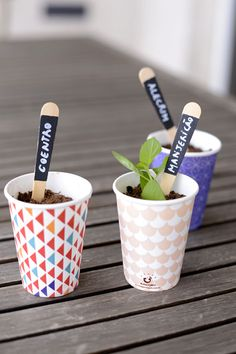 It makes sense to label plants in your garden. Creative and unique DIY plant markers will bring unexpected decorative effects to your garden. I've collected 45 Creative and Cheap DIY Plant Markers And La Vegetable Garden Design, Diy Garden, Garden Web, Gnome Garden, Garden Crafts, Balcony Garden, Garden Tips, Terrace, Garden Ideas