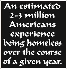 Homeless people are just like you & me~