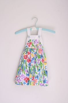 Vintage girls dress floral Saks Fifth Avenue 3T by fuzzymama