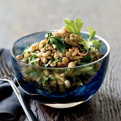 """I love lentils: They're packed with protein, very filling and a good source of iron,"" says Jill Donenfeld. Eat these stewy lentils as a light lunch o Best Vegetarian Recipes, Lentil Recipes, Wine Recipes, Great Recipes, Cooking Recipes, Healthy Recipes, Fall Recipes, Clean Eating, Healthy Eating"
