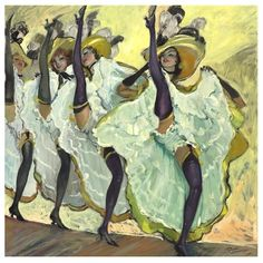 "Art Print ""The Can-Can"", c Folies Bergere, Moulin Rouge Henri De Toulouse Lautrec, Belle Epoque, Jean Gabriel Domergue, Folies Bergeres, Blog Art, Illustration Art, Illustrations, French Artists, Art Plastique"