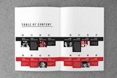 Unique magazine template on Behance
