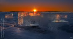 Candles in the Wind - Day 40 #icehenge lake mills after the fall of the sculpture