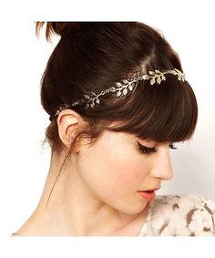 Retro Golden Leaves Hair Band / Head Band