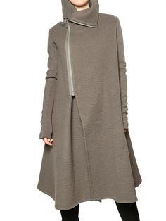 Double cashmere a-line coat