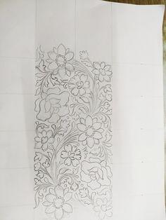 Motif Design, Border Design, Rose Design, Pattern Design, Hand Embroidery Design Patterns, Embroidery Motifs, Embroidery Fabric, Paisley Pattern, Pattern Art