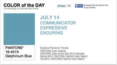 APPart – Mobile Art – Pantone Color of the Day – 'Delphinium Blue' – TheAppWhisperer