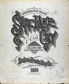 This kind of embellishment is an illustration all it's own.  Salt Lake City, Utah - Sanborn Perris Map Co.