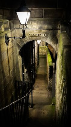 Ancient Passage, Edinburgh, Scotland