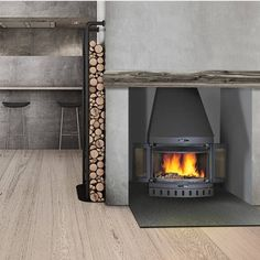 Jøtul 400 Harmony wood burning stove with foldable doors, Swedish design, super efficient and kind to the environment too - visit our showroom to see our full range of woodburning stoves and fireplaces #fireplaces #homedecor #woodburningstove Stove Fireplace, Swedish Design, Woodburning, Stoves, Fireplaces, Showroom, Environment, Home Appliances, Range