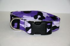 Purple Camo Dog Collar // Handmade & Personalized by PawesomePups
