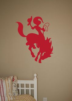 Cowgirl riding Horse  Vinyl Wall Decal Art by urbanexpressions, $22.00