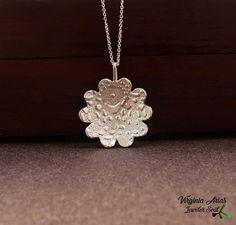 Floral Silver Pendant by Virginia Arias Jewelersoul.#silverpendant  #silver  #colgante  #jewel  #silverjewelry #sterlingsilver   #jewelry  #joyería  #bijoux  #silberschmuck  #handmade  #style #fashion  #colgante  #pendant #necklace #silvernecklace   #plata925  #giftforher #regalo  #artjewelry  #unique #etsyshop  #naturejewelry #naturependant  #nature #jewelrsoul  #hechoamano   #silver  #madewithlove  #joyeríaoxidada  #handmade  #woman  #contemporaryjewelry #contemporarypendant # silver925