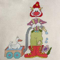 Fireman Clown Cross Stitch Pattern by StitchNotions on Etsy, $3.00