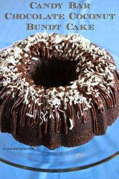 Candy Bar Chocolate Coconut Bundt Cake from Love and Confections!
