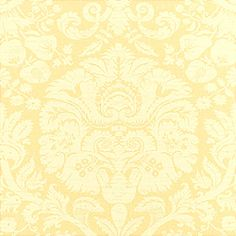 Manhattan Damask #wallpaper in #yellow from the Damask Resource 2 collection. #Thibaut #Damask