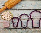 Arty McGoo's Can Bouquet Cookie Cutter and Fondant Cutter