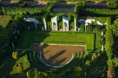 http://www.photo-paramoteur.com jardin du Château du champs de bataille, Jacques Garcia