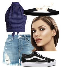 Summer by ellaboo0473 on Polyvore featuring polyvore, fashion, style, CECILIE Copenhagen, J Brand, Vans and clothing