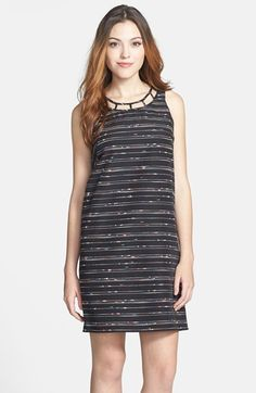 Vince Camuto Caged Neck Woven Shift Dress available at #Nordstrom
