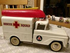 Early '60s Tonka Rescue Squad Truck- Complete