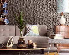 Hive es un patrón de los paneles decorativos Wall Flats, hechos con material reciclable y sostenible, a partir del bagazo de la caña de azúcar. Características.