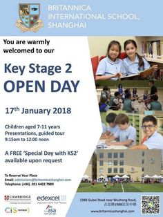 For #expat parents in #Shanghai, Britannica International School is holding a KS2 Open Day on Wednesday 17 January 2018 to enable you to find out more about the school first hand.  To find out more, visit http://www.britannicashanghai.com/home/