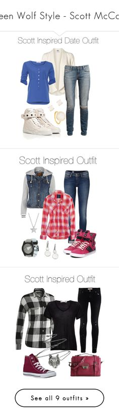 """""""Teen Wolf Style - Scott McCall"""" by stardustonthepiano ❤ liked on Polyvore featuring Vero Moda, Paige Denim, Aaiko, Givenchy, Kate Spade, Tommy Hilfiger, River Island, American Eagle Outfitters, Pastry and Neff"""